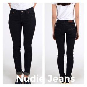 Nudie Jeans Skinny Lin Dry Steel Mid Rise